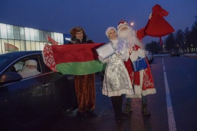 Fabulous New Year's heroes rush to children's social institutions in Minsk region again