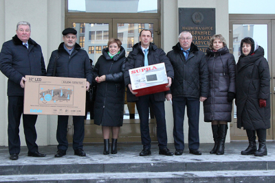 Deputies donated TV and microwave to boarding house in Volozhin region